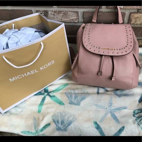 Michael Kors Riley LG Leather Backpack! 8dcc085772250